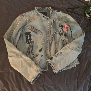 Blank NYC denim studded jacket